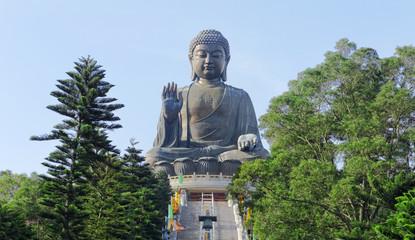 Giant Buddha Statue in Tian Tan