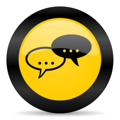 forum black yellow web icon