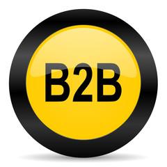 b2b black yellow web icon