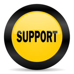 support black yellow web icon