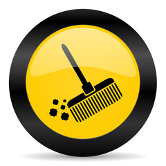 broom black yellow web icon
