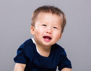 Baby boy giggle