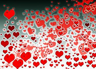 love texture hearts