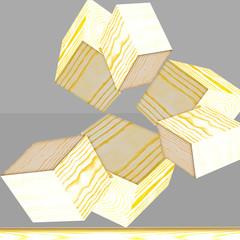 cubi di legno