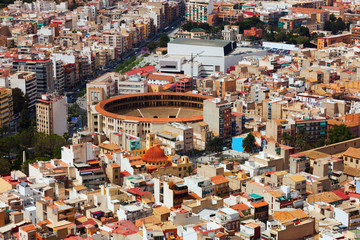 Top view of Alicante with arena