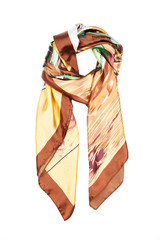 the neckerchief silk with an abstract pattern