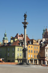 King Sigismund column (erected in 1644) on castle square, Warsaw