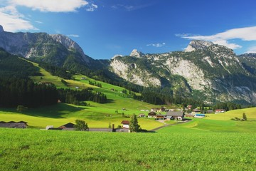 View of the Tennen Mountains and Abtenau, Austria