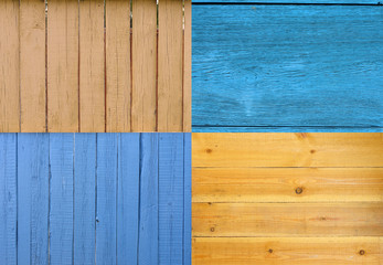 Collection of wooden planks