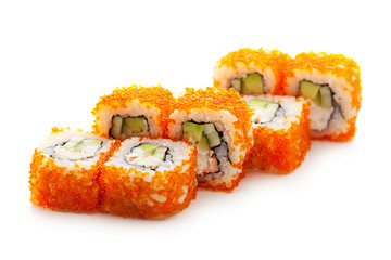 California Roll with Masago