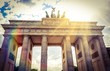 canvas print picture - Instant - Brandenburger Tor