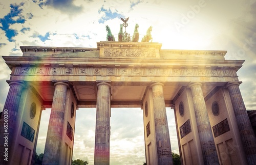 canvas print picture Instant - Brandenburger Tor