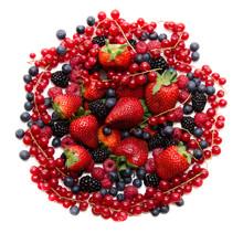 Skład czerwonych i czarnych owoców świeżych