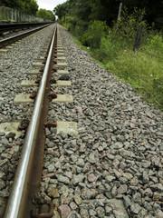 Vías de tren, ferrocarril. Comunicación , transporte.