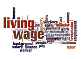Living wage  word cloud poster