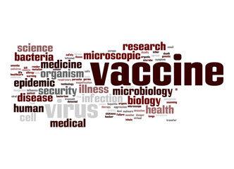 Vaccine word cloud