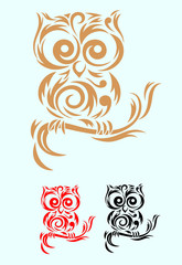 Owl floral decoration