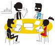 活発な意見交換をする会議