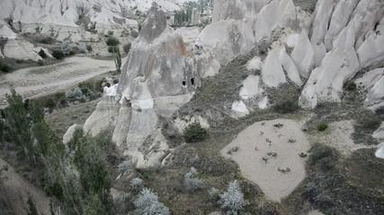 Vues aériennes de la Cappadoce en montgolfière