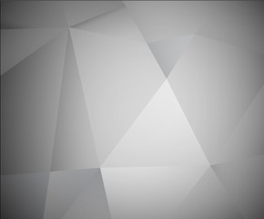 Abstract 3d grey vector background made from triangles