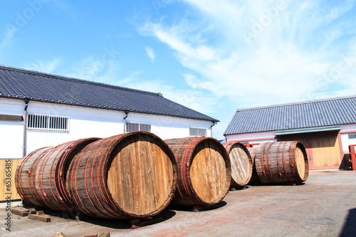 Poster Wine barrels