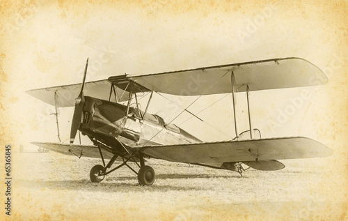 Fototapeta old airplane
