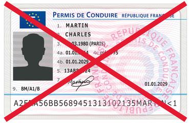 Retrait du permis de conduire. Sanction pénale. Nouveau modèle.