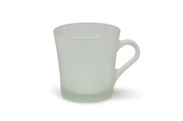Matt glass mug isolated on white background
