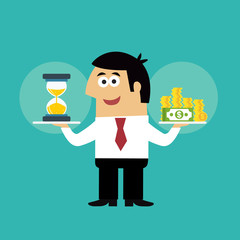 Business life time is money concept