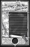 Vintage Page with Placeholder Menu on Blackboard poster