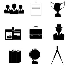 Icons for education and business.