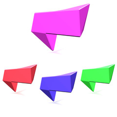 Colorful 3d speech bubbles . №2
