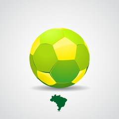 Brazil soccer ball on background