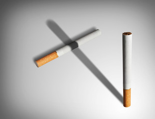 Smoking kills concept.