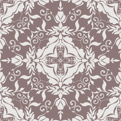 Seamless vector pattern tracery