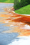 Nature pollution of a copper mine exploitation
