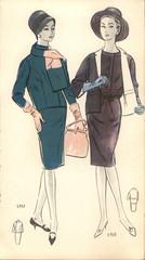 Poland, circa 1961: vintage fashion illustration