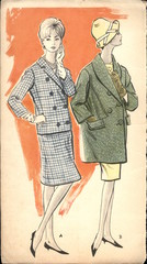 Poland, circa 1961: vintage fashion illustration