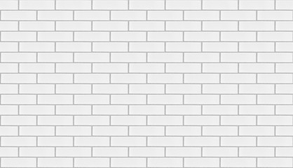 White brick wall background repeatable