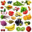 collage di frutta e verdura fresca