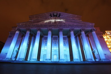 Night view of Bolshoi Theatre (Large; Great or Grand Theatre; al