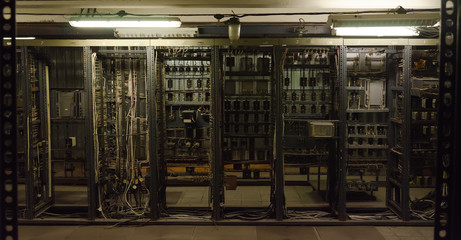 Room with many old communications.