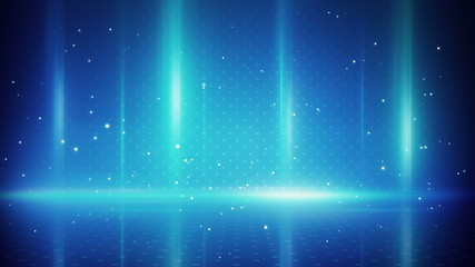blue light stripes and particles loopable background