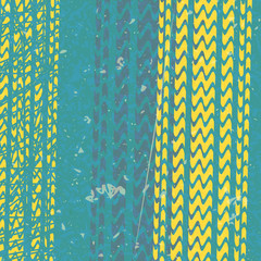 yellow tire tracks over blue background