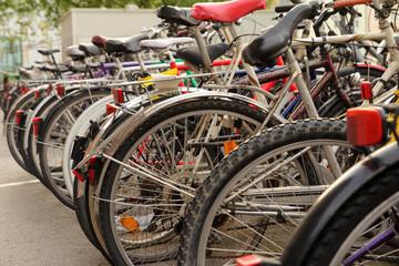 many bikes on street