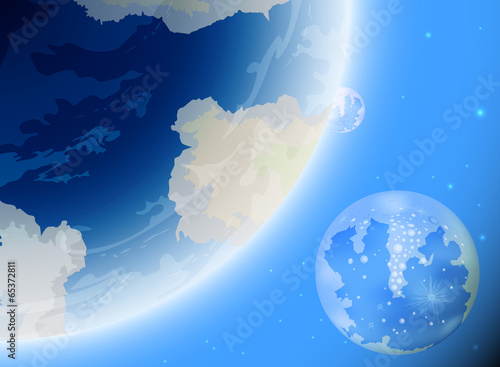 New planet Earth geology nature background
