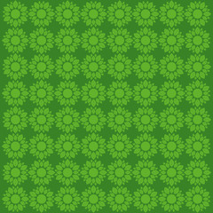 green flower pattern in green background  vector