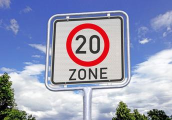 verkehrsberuhigte Zone 20