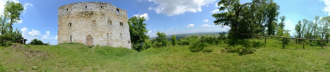 Panorama Burgruine Straufhain Thüringen