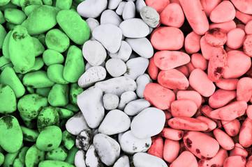 Italian flag stones